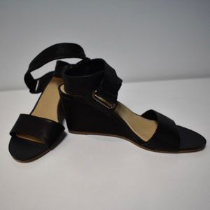 New Rag & Bone Black Damien Wedge Size 8